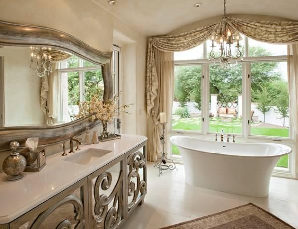 Выбираем красивое зеркало в ванную
