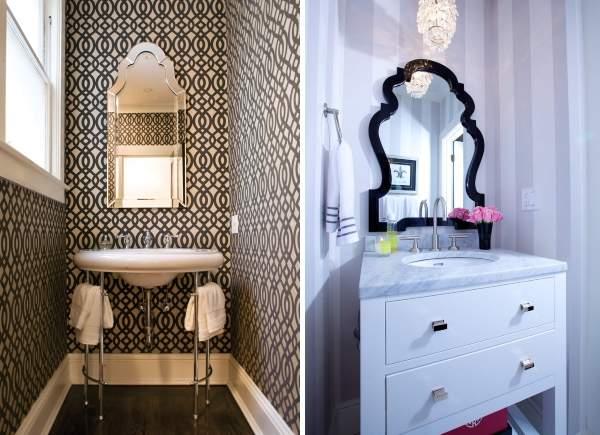 Узкие красивые зеркала для ванной фото