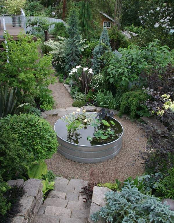Ландшафтные идеи - мини пруд в саду