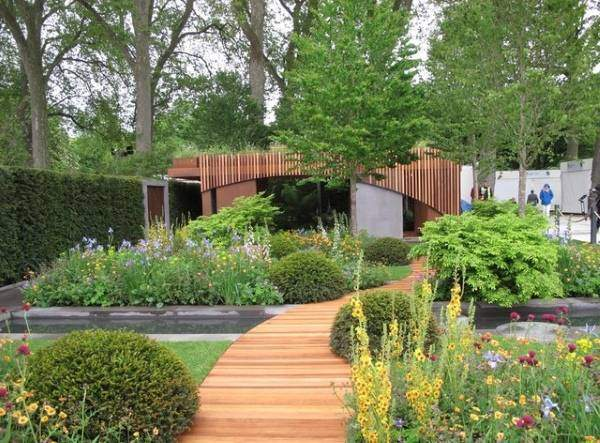 Красивый и модный дизайн сада - фото