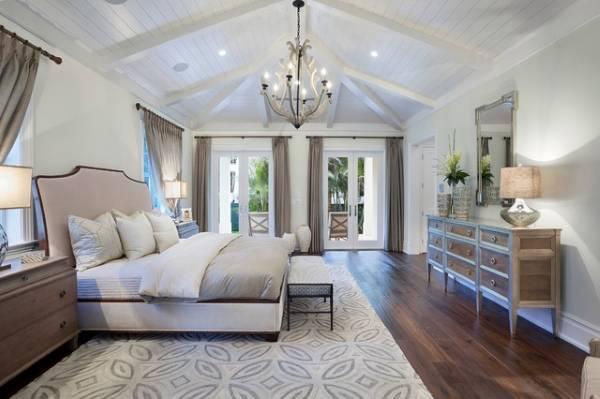 Модный дизайн белой спальни 2015