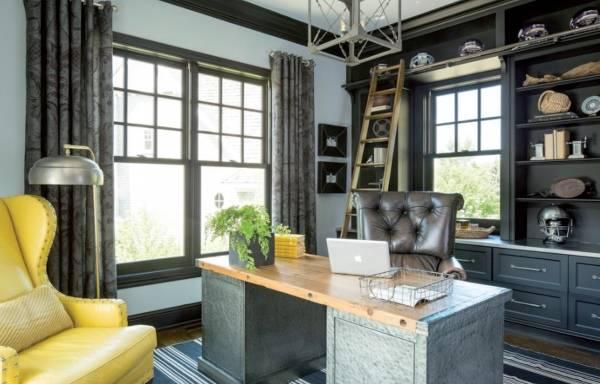 Сочетание желтого и серого в дизайне интерьеров