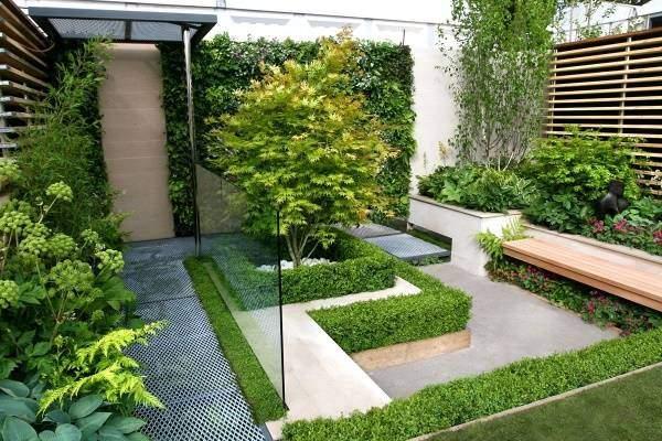 Чистый минималистский дизайн садового участка