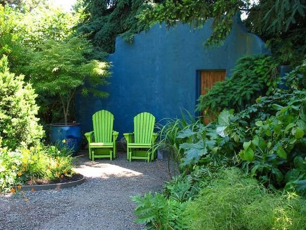 Стильный дизайн сада на фото 2015