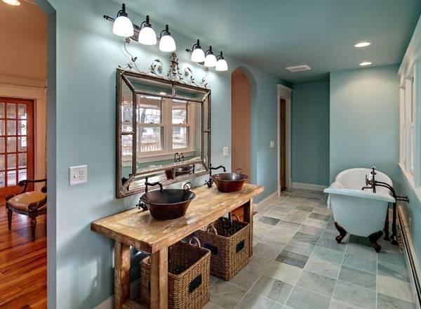 Стильные зеркала в ванную комнату фото