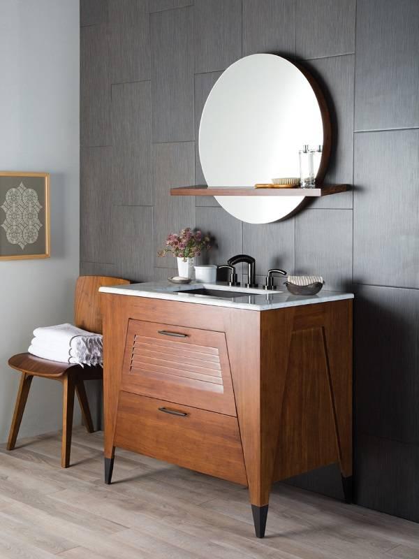 Дизайн зеркала над раковиной в ванной