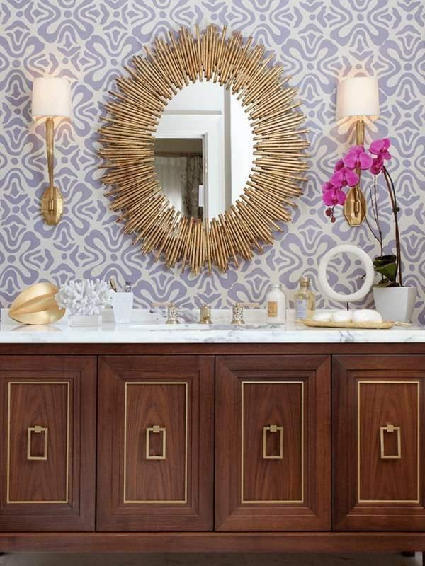 Красивое зеркало в ванную фото