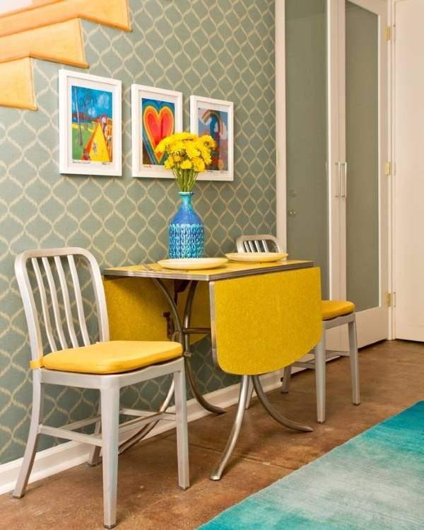 Желтый цвет в дизайне столовой или обеденной зоны дома