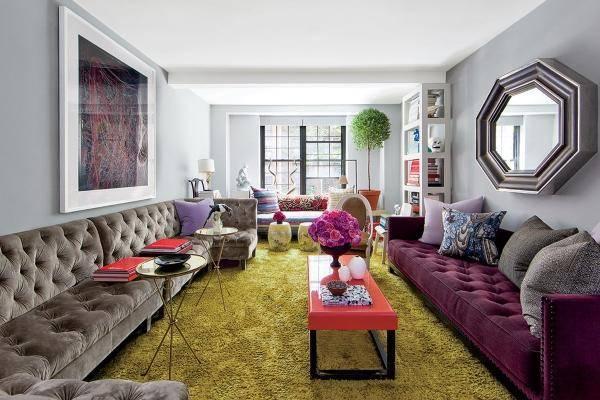 Красивые диваны в дизайне гостиной 2015