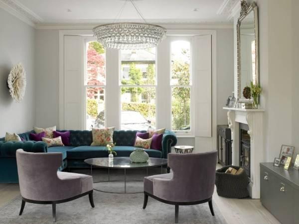 Красивые диваны - фото с бархатной обивкой