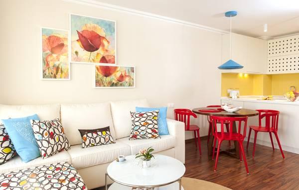 Дизайн гостиной и кухни в двухкомнатной квартире 45 кв м