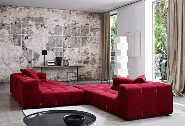 Яркие диваны красного цвета в гостиную фото