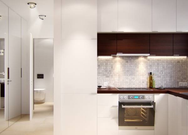 Стильная 1 комнатная квартира 40 кв м в духе минимализма