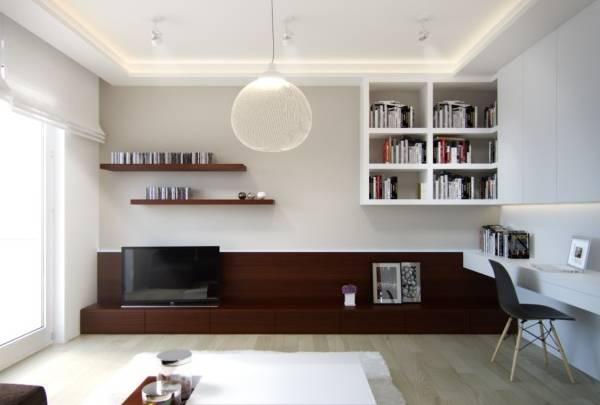 Современные идеи дизайна однокомнатной квартиры 40 кв м
