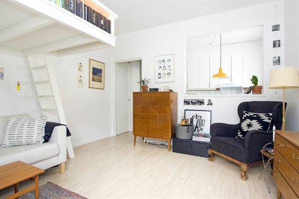 Скандинавский дизайн однокомнатной квартиры 35 кв м