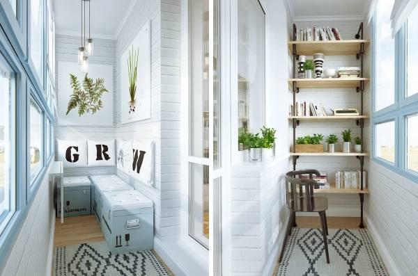 Маленький балкон в дизайне однокомнатной квартиры