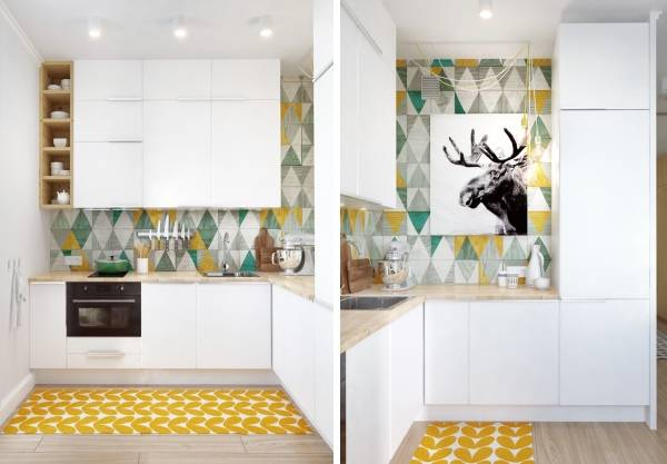Дизайн кухни в однокомнатной квартире студии 45 кв м