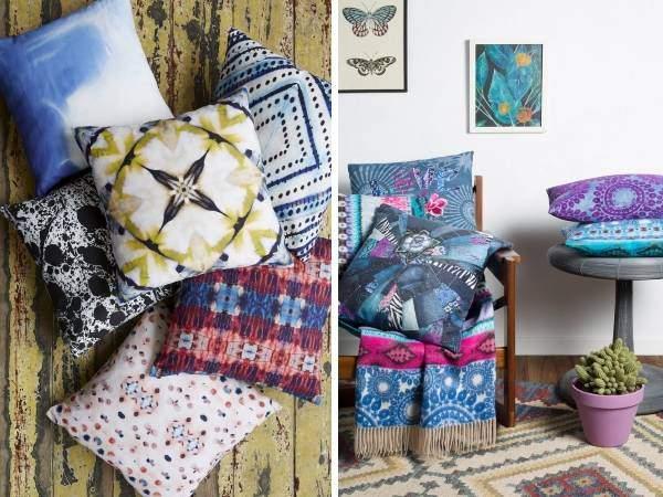 Весеннее оформление интерьера с подушками