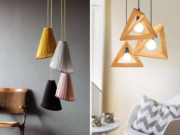 Стильные весенний декор интерьера с лампами