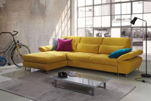 Красивые диваны яркого цвета в интерьере фото