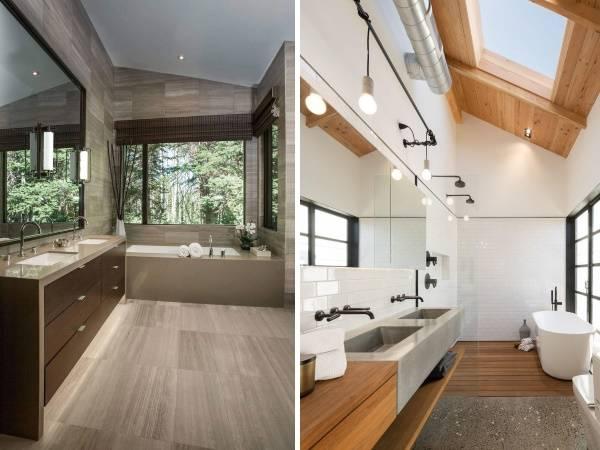 Современный дизайн ванной в азиатском стиле
