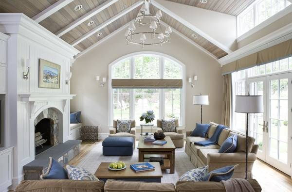 Красивый свежий дизайн частного дома - фото инетерьера