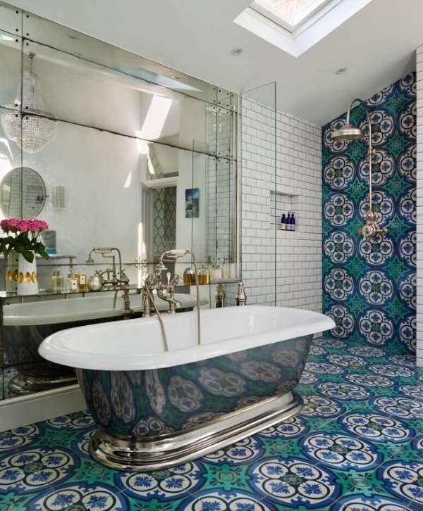 Дизайн ванной с марокканской плиткой