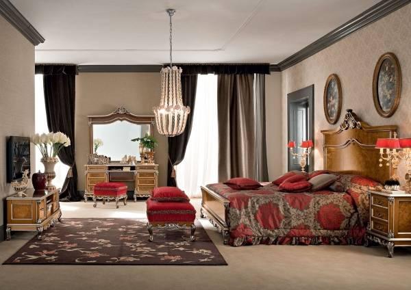 Роскошный дизайн спальни в частном доме
