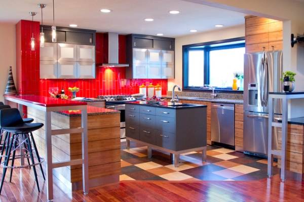 Напольное покрытие - линолеум для кухни