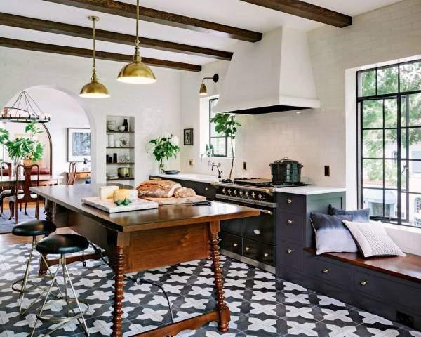 Плитка - лучшее напольное покрытие для кухни