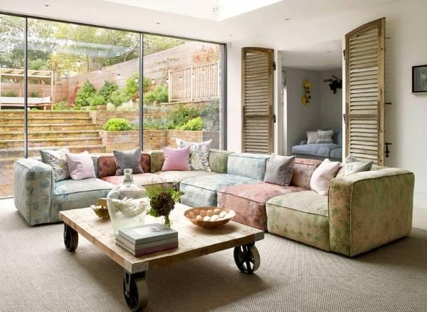 Современная мебель пастельных тонов - фото в интерьере