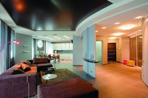 Современный дизайн натяжных потолков фото 2016 - лучшие идеи
