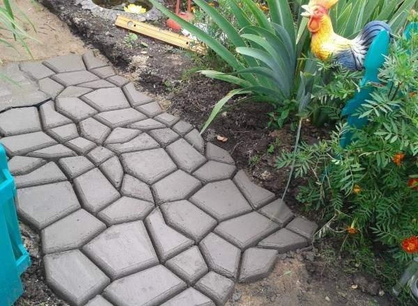 Цементные садовые дорожки своими руками - фото как делать