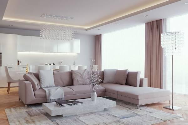 Краисвый дизайн потолков в гостиной - фото 2016 современные идеи