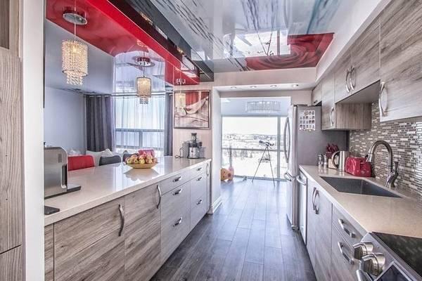 Квартира стадия с комбинированными натяжными потолками 2016