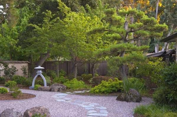 Садовые дорожки - фото в японском стиле