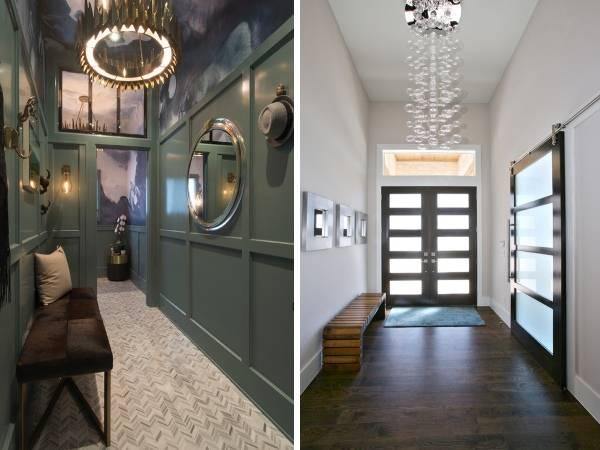 Дизайн прихожей 2018 года в стиле luxury минимализм