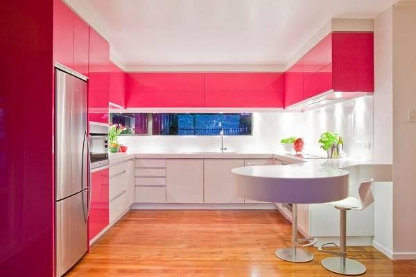 Двухцветные фасады для кухни в современном стиле 2016