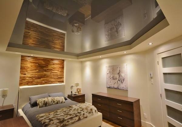 Темные натяжные потолки фото 2016 современные идеи для спальни