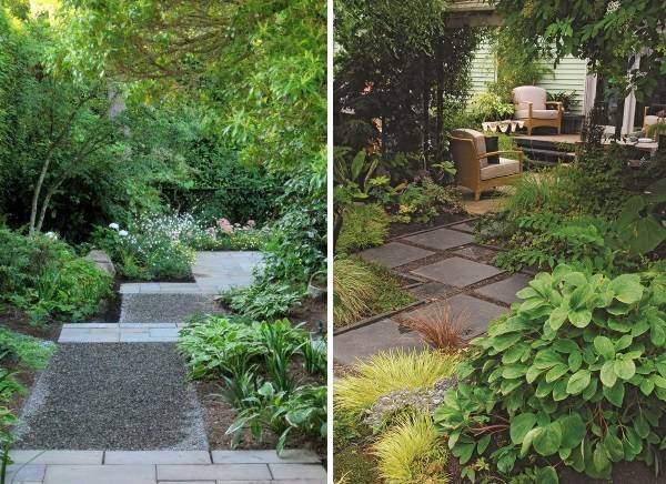 Красивая плитка для садовых дорожек - фото в саду и на даче