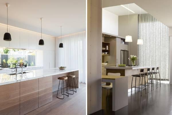 Современный дизайн штор для кухни - фото 2016