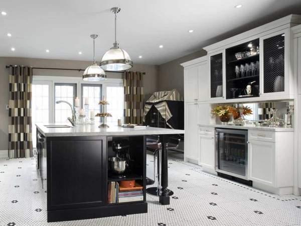 Современные шторы для кухни в классическом стиле - фото 2016