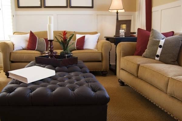 Шикарная гостиная с мебелью по фен шуй