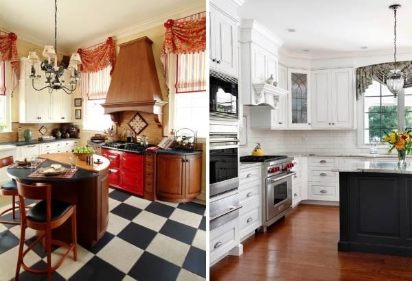 Короткие кухонные шторы - лучшие современные идеи 2016