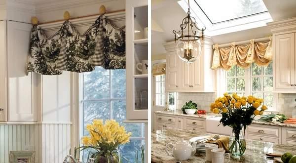 Идеальные шторы для маленькой кухни - фото 2016
