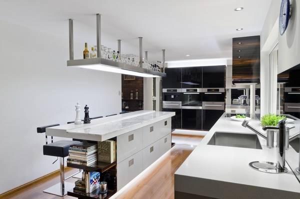 Подсветка и светильники для кухни над рабочей поверхностью