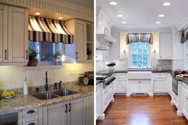 Классические короткие шторы для кухни - фото дизайн 2016