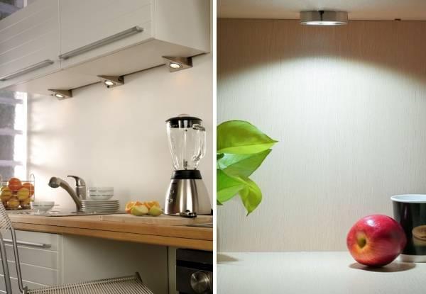 Светодиодные светильники для кухни под шкафы накладные на фото