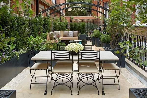 Дизайн террасы в современном стиле - фото частного дома