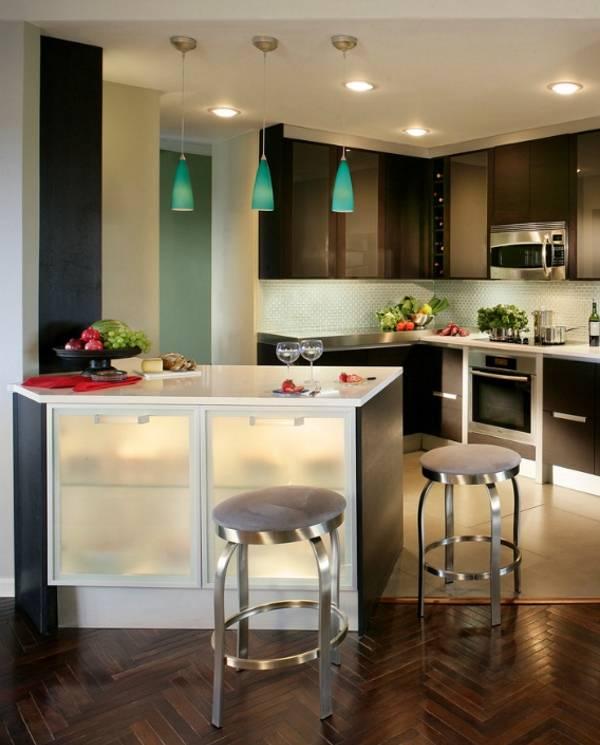 Дизайн кухни с комбинированным освещением - фото 2016